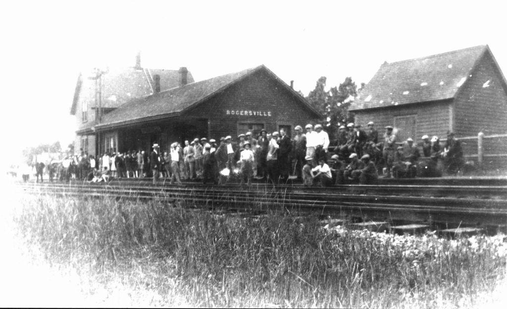 Rogersville train station, circa 1920