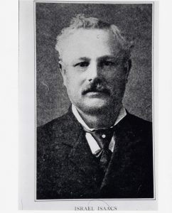 Formal black and white portrait of man with mustache