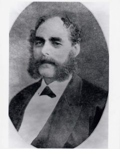 Formal black and white portrait of Solomon Hart with whiskers or mutton chops