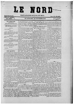 Reproduction of an old newspaper page