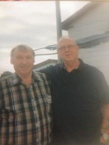 Al Murphy and army friend at a reunion in 2014