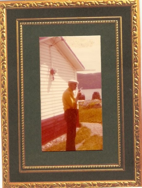 John Hayse, Sr outside his home
