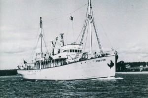 Ship--The Fergus leaving the harbour
