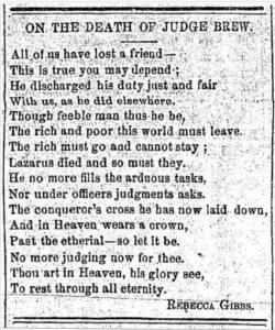 poème publié dans un journal