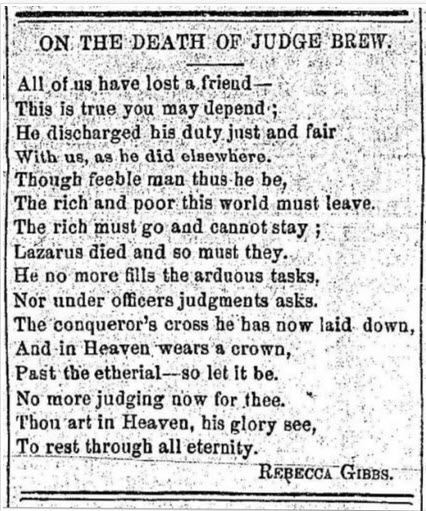 poem printed in a newspaper.