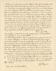 handwritten in 1852. Deed of Emancipation