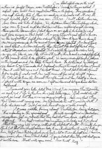 Photocopie d'une lettre manuscrite.