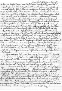 Photocopy of handwritten letter.