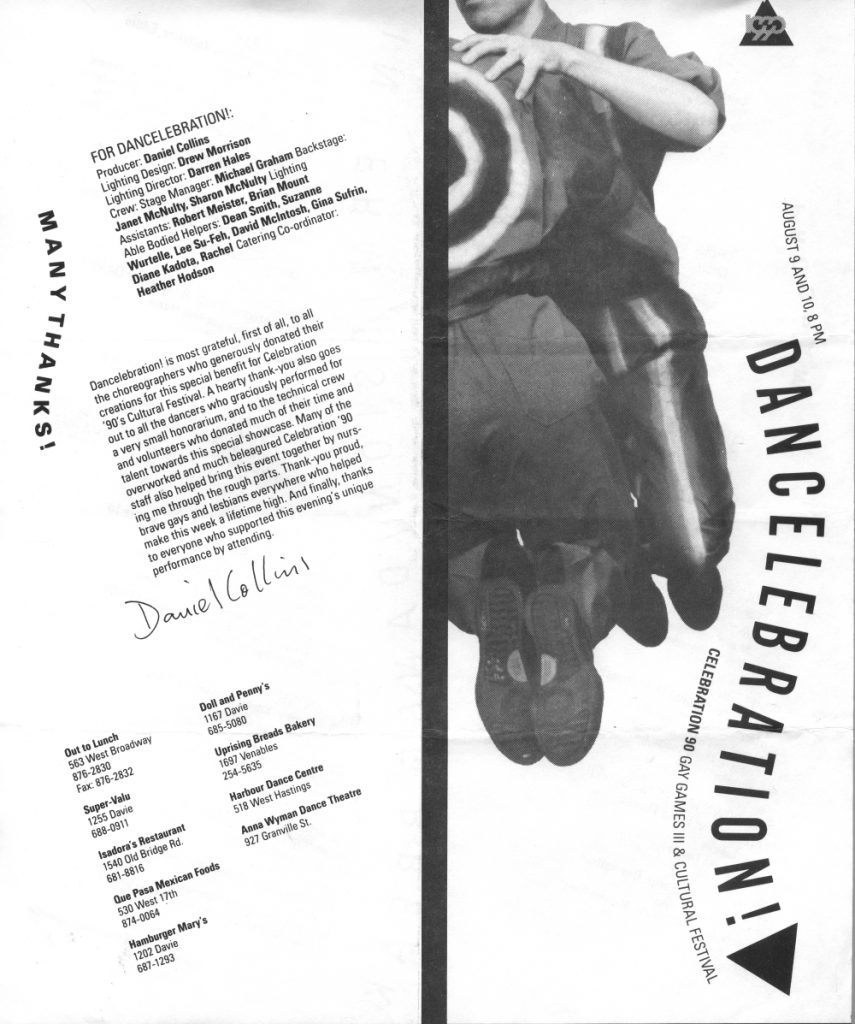 Dancelebration! programme