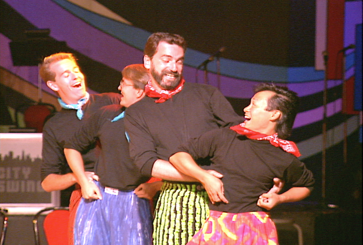 Three Company LA. singer-dancers perform at Swing '90 at the Commodore Ballroom.