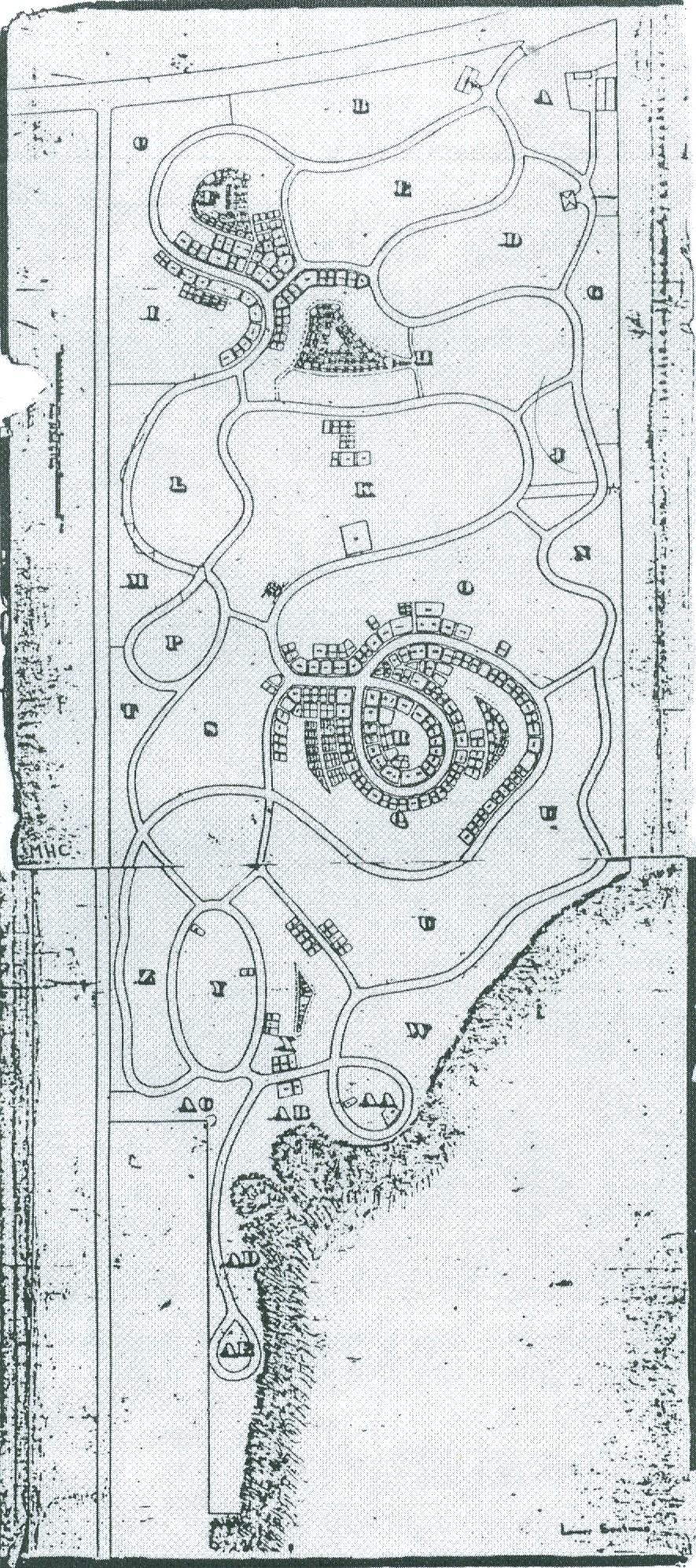 Photo noir et blanc d'un dessin de plan