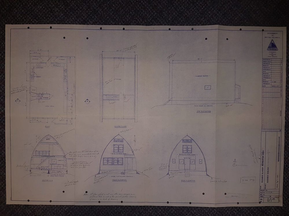 These drawings give the technical specifics needed to build each part of the Hut structure and what the Hut should look like once put together.