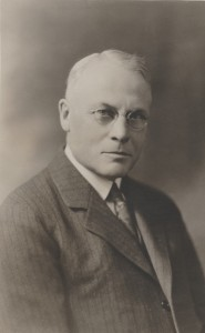John A. Campbell sitting for a portrait.