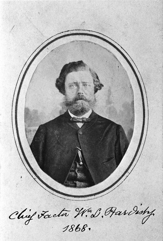 Photo of Belle's father, William Hardisty, 1868