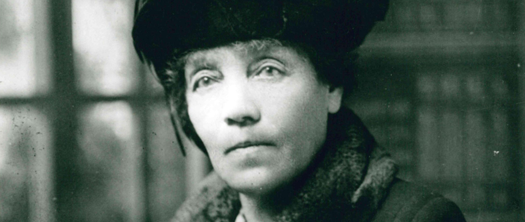 A portrait of Lady Lougheed in a winter coat and hat