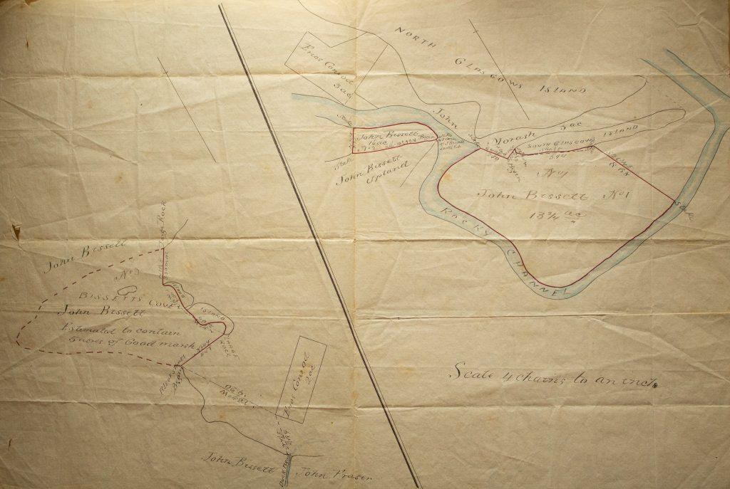 Map of marsh lots