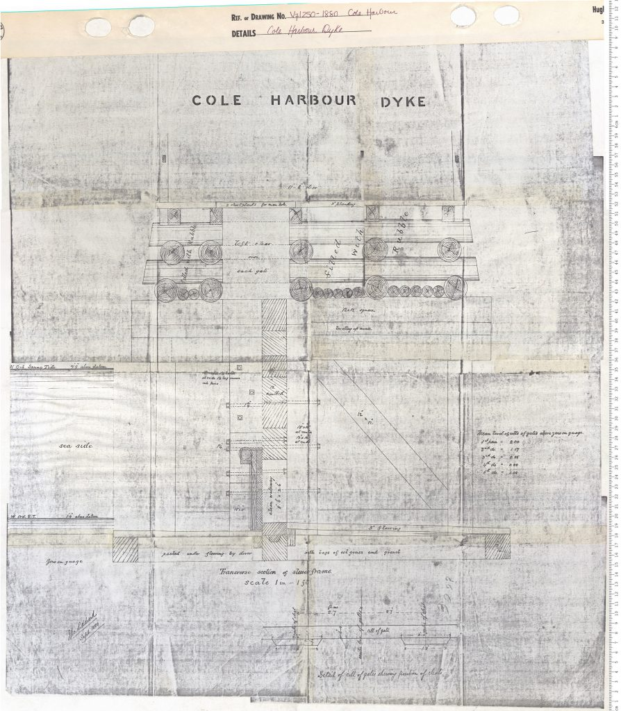 A plan of a section of the Cole Harbour Dyke