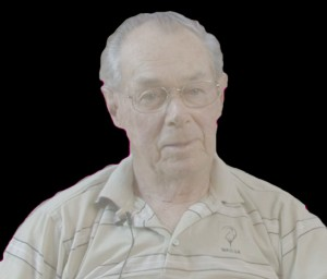 A colour picture of an older gentleman, Alan Bremner, with wire rimmed glasses, thinning gray hair and wearing a golf shirt. Mr. Bremner worked for Hawboldt's until he retired. He was responsible for ensuring that Forman Hawboldt's legacy wasn't forgotten.