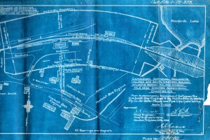 Blueprint showing the railway around the foundry