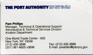 WTC Business card, front side (2001, FMC Collection, Chief Steve Dongworth recto-2-2)
