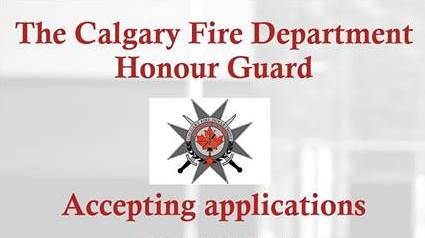 CFD Honour Guard recruitment poster calling for applications