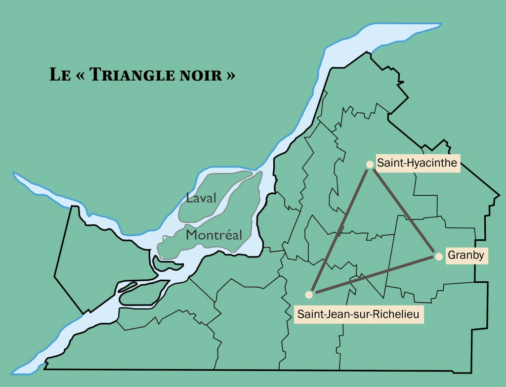 Map of the Black Triangle