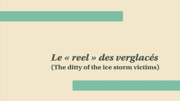 The ditty of the ice storm victims