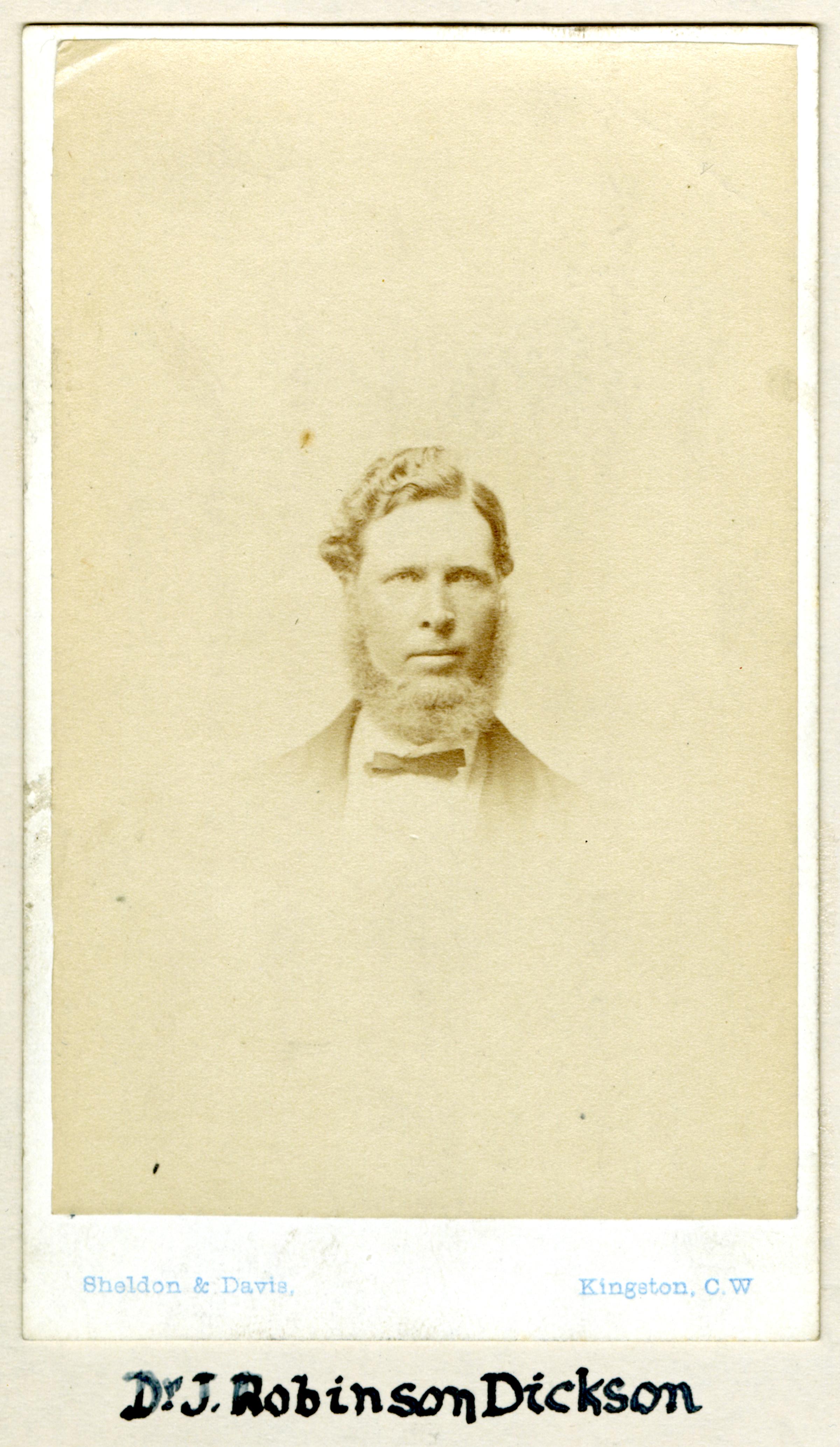 Period portrait of Dr. John Robinson Dickson
