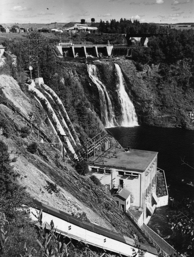 The dam and generating station developed by local entrepreneur Jules Brillant. His Lower St. Lawrence Power Company.