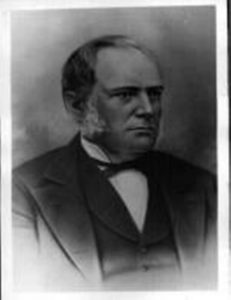 Black and white engraving of a portrait of John Thornton facing to his left, dressed in a dark suit and bow tie, with a white shirt.