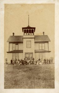 Magog Academy front toward Main St.