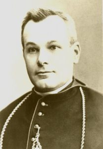 Portrait of a man in his forties wearing a bishop's habit.