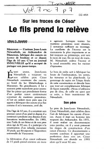 Article on César and his son