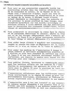 Extrait de la lettre patente 1984.