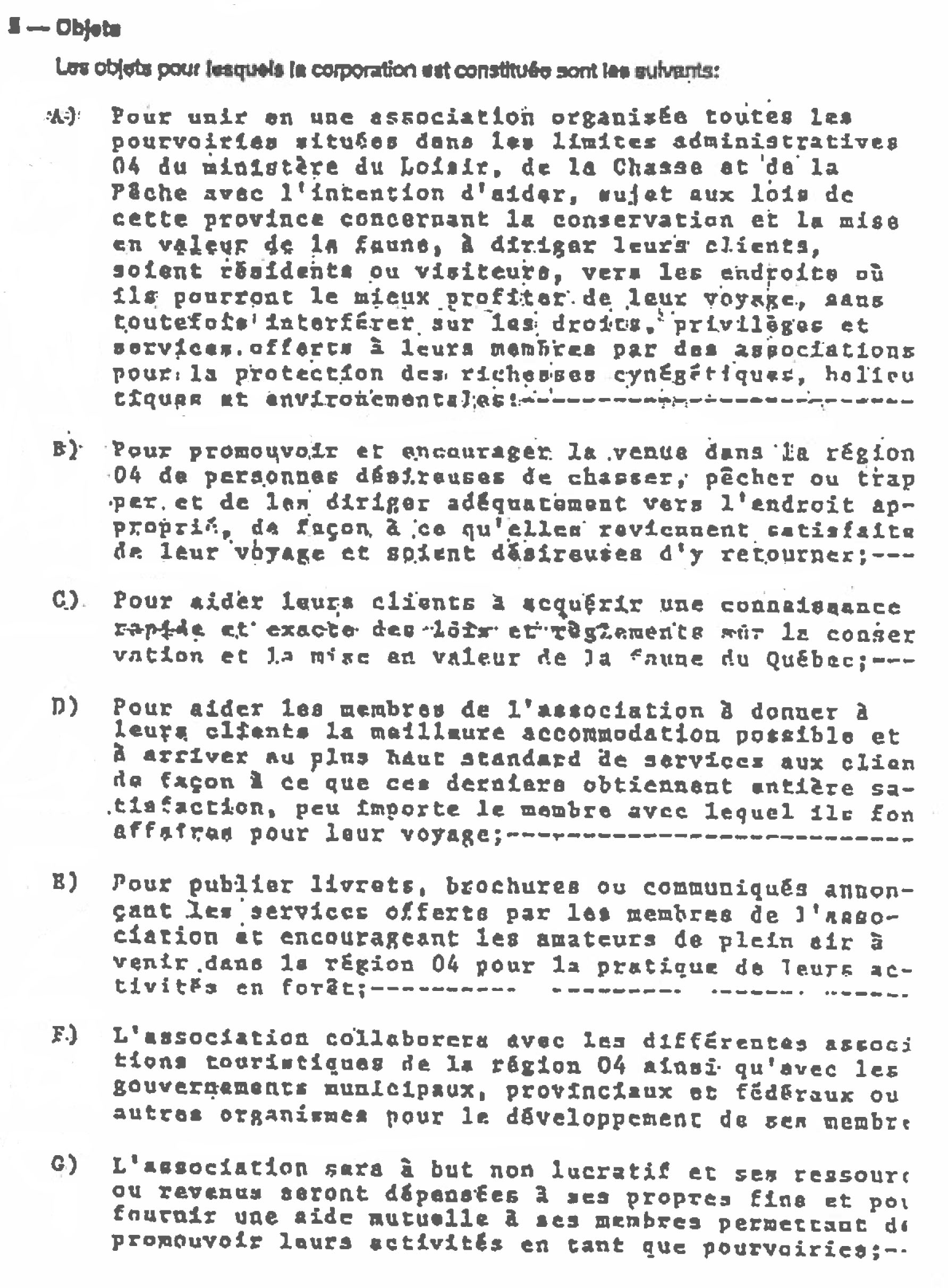 Excerpt from the 1984 letters patent .