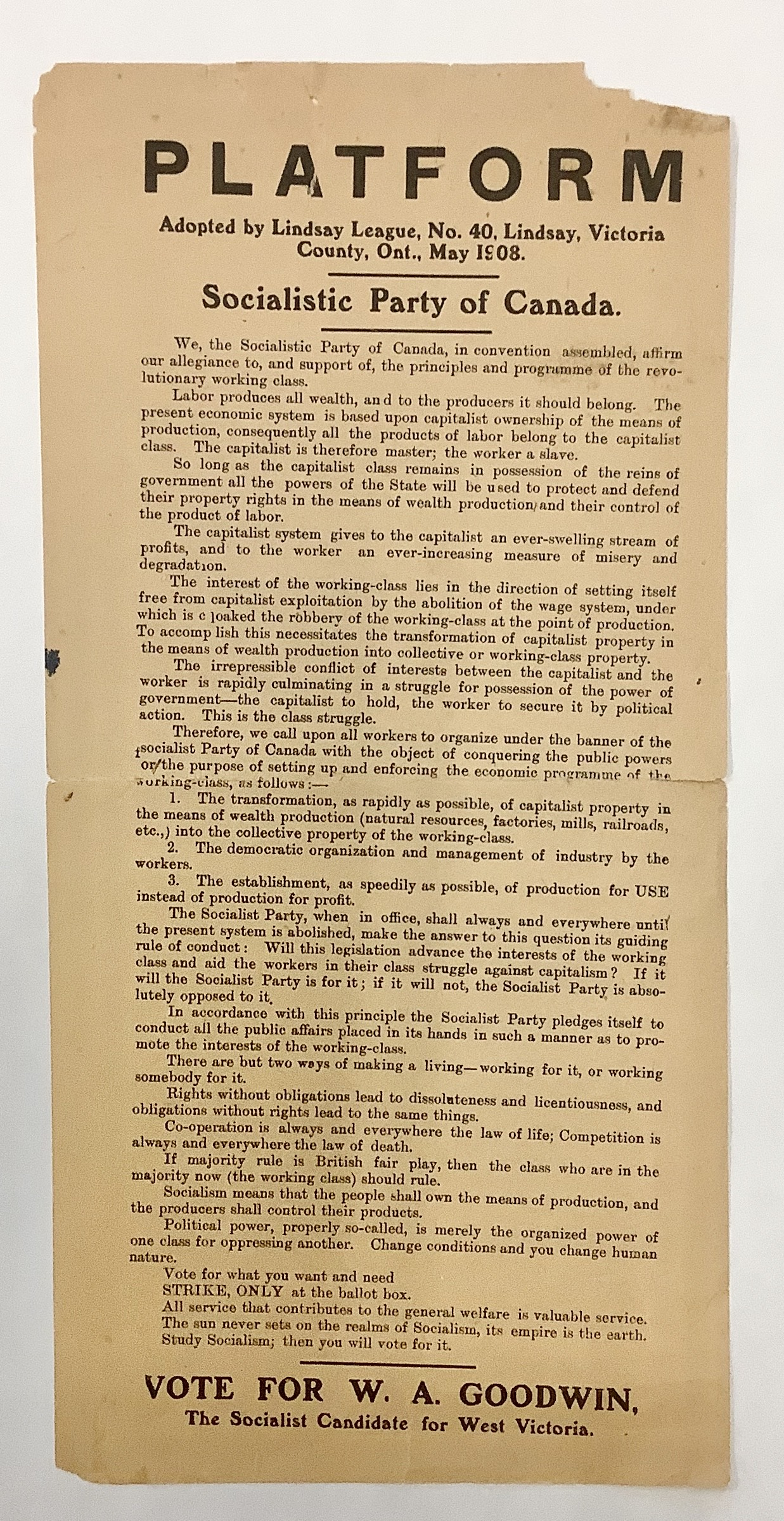 Image of political document in black-and-white text