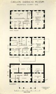 Plan des salles d'exposition du Musée régional d'Argenteuil 1938.