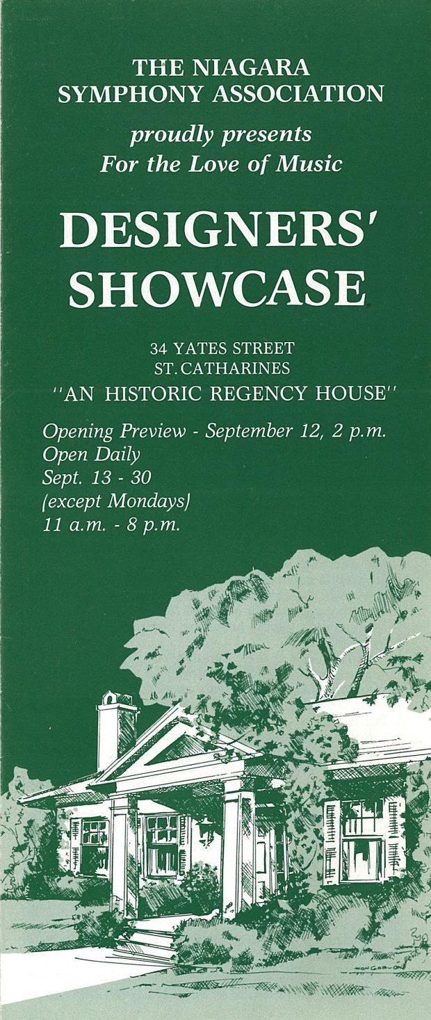 Brochure cover for Designer's Showcase