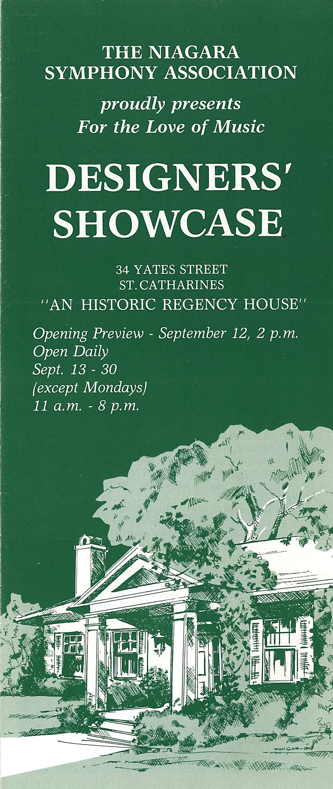 Brochure cover for Designer's Showcase