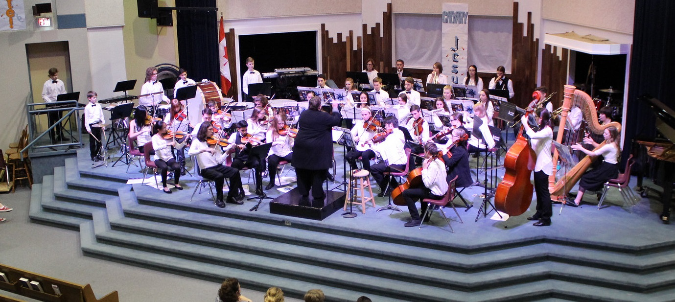 NYO on stage during a current recital