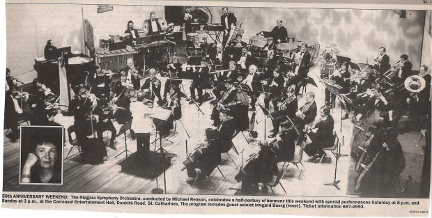 Orchestra performs with soloist Irmgard Baerg