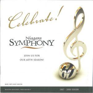 60th Season card with treble clef