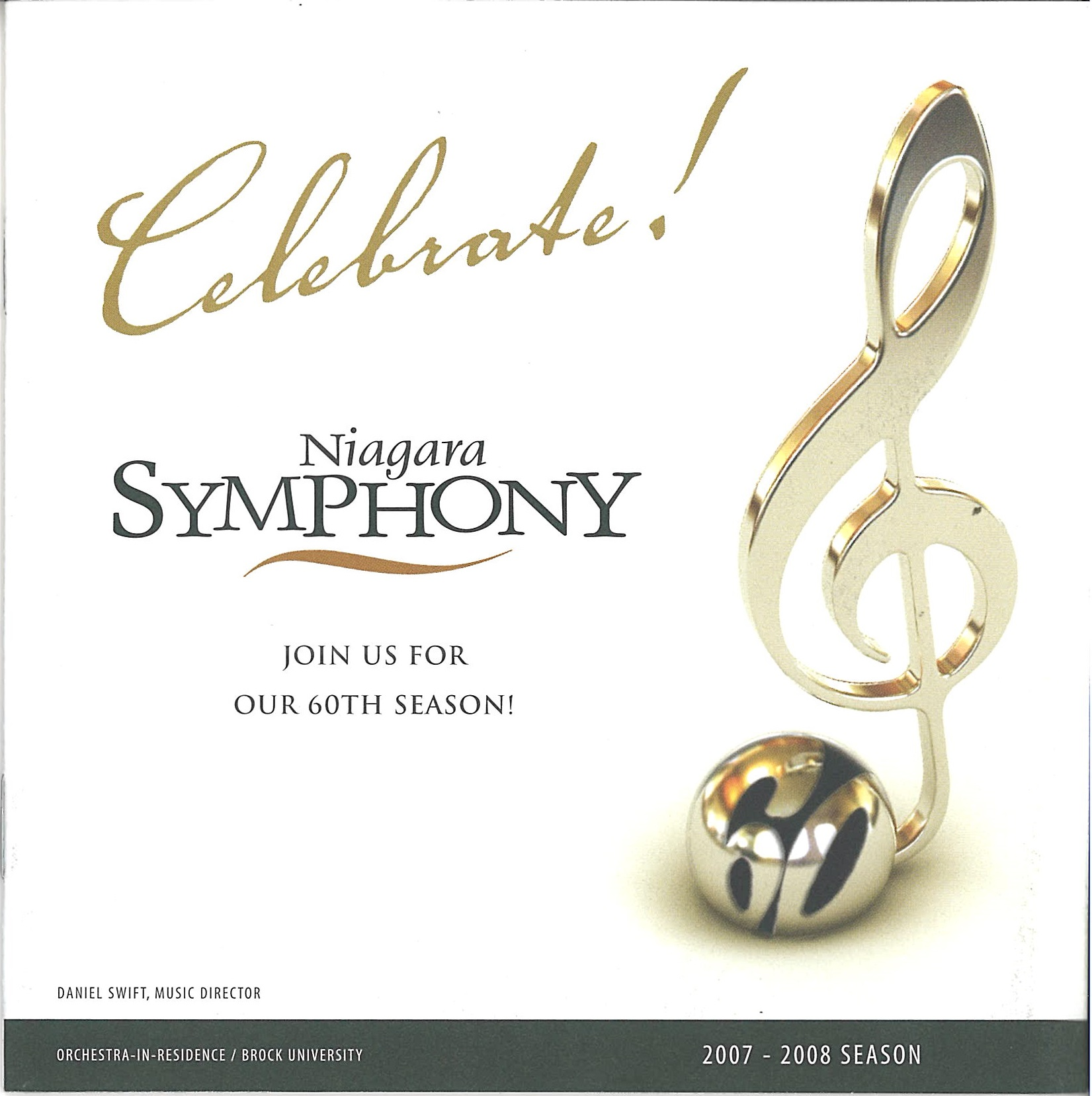 60th Season card with treble clef