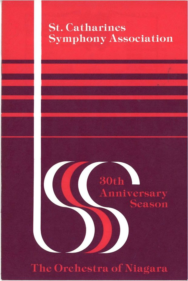 Red and purple programme cover for 30th season