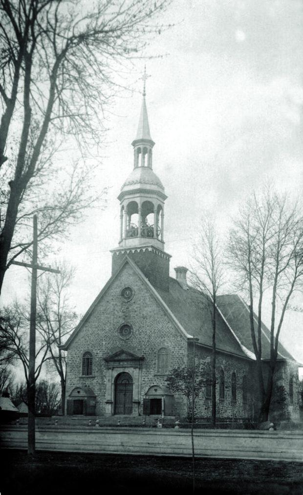 An ancestral church near a street