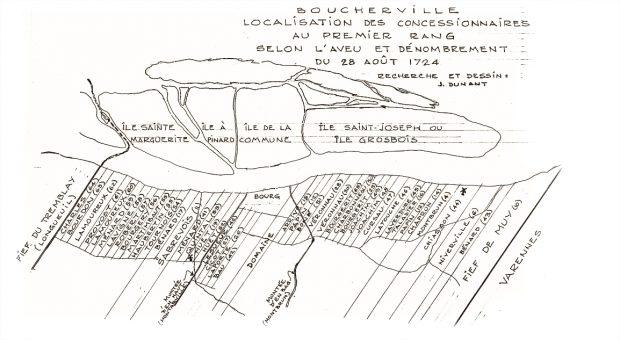 A map of the Boucherville city limits