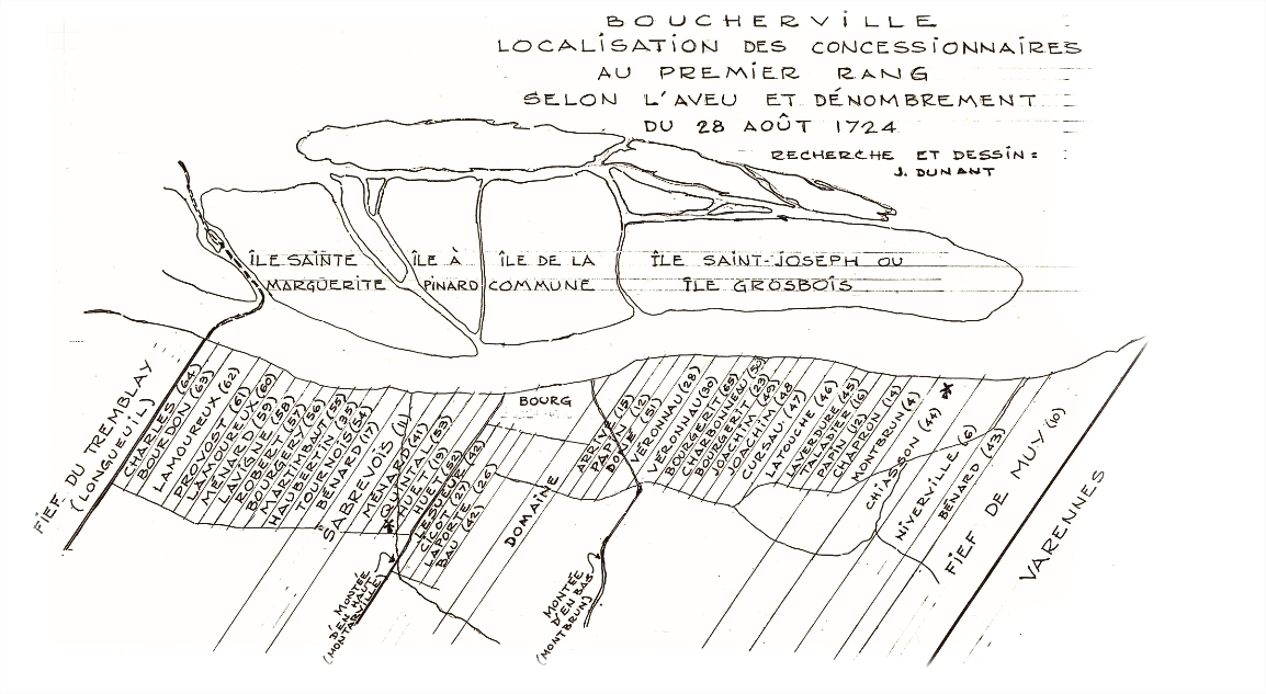 A map of the Boucherville city limits