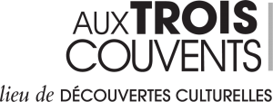 Black and white logo of the museum Aux Trois Couvents