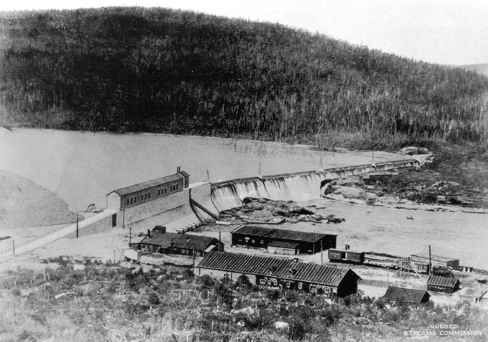Detailed sketch of the dam site includes the environment and the builders' camp.