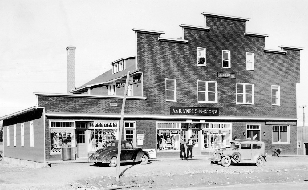 Dionne building located in Malartic in the 1940s
